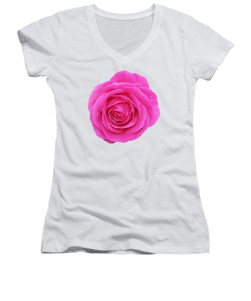 Women's V-Neck T-Shirt (Junior Cut) featuring the photograph Rose by George Atsametakis