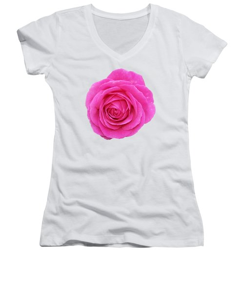 Rose Women's V-Neck (Athletic Fit)