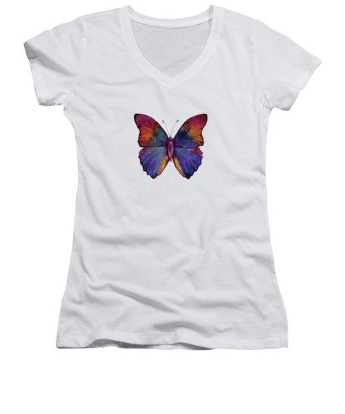 13 Narcissus Butterfly Women's V-Neck