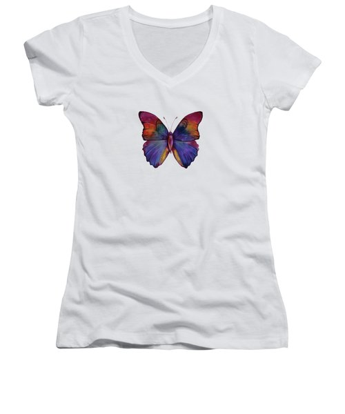 13 Narcissus Butterfly Women's V-Neck (Athletic Fit)