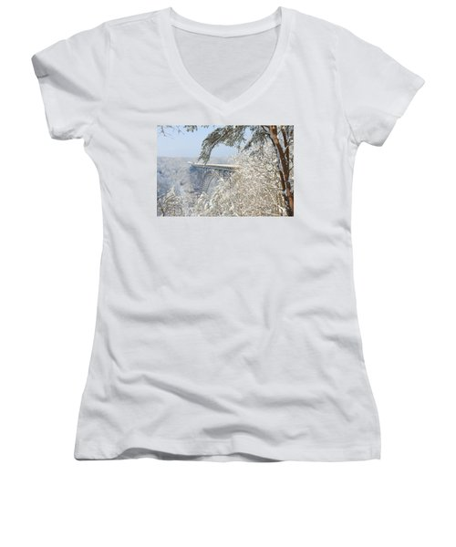 New River Gorge Bridge Women's V-Neck T-Shirt