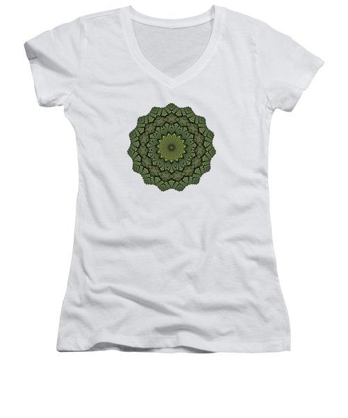 15 Symmetry Celery Bulb Women's V-Neck