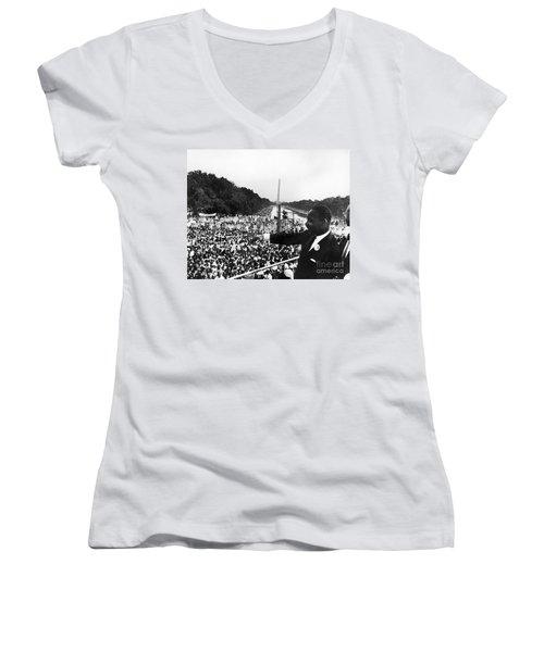 Martin Luther King, Jr Women's V-Neck T-Shirt