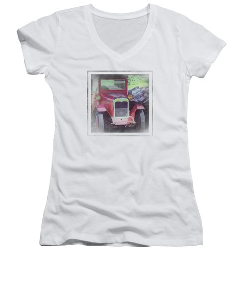 1920 International Farm Truck Women's V-Neck (Athletic Fit)