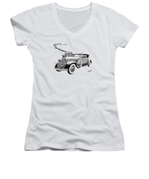 1929 Cadillac  Women's V-Neck (Athletic Fit)