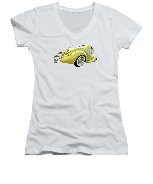 1935 Ford Coupe Women's V-Neck T-Shirt (Junior Cut) by Gill Billington