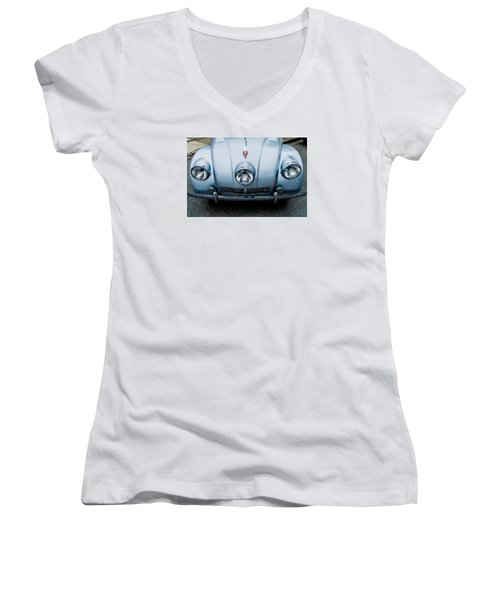 Women's V-Neck T-Shirt (Junior Cut) featuring the photograph 1947 Tatra T87 by M G Whittingham