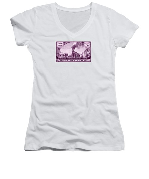 1944 Transcontinental Railroad Women's V-Neck (Athletic Fit)