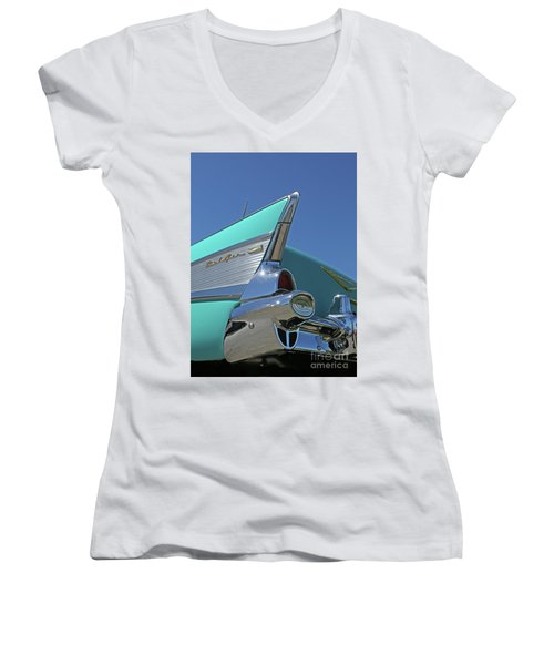 1957 Chevy Women's V-Neck (Athletic Fit)