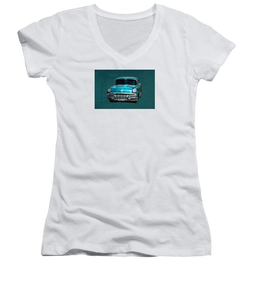 1957 Pontiac Bonneville Women's V-Neck (Athletic Fit)