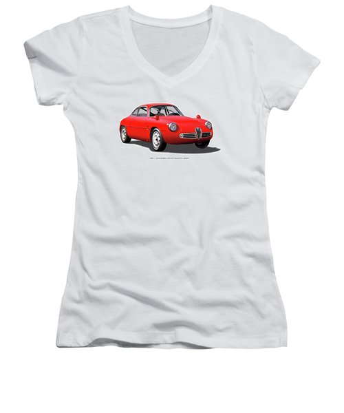 1960 Alfa Romeo Zagato Giulietta Sprint Women's V-Neck T-Shirt