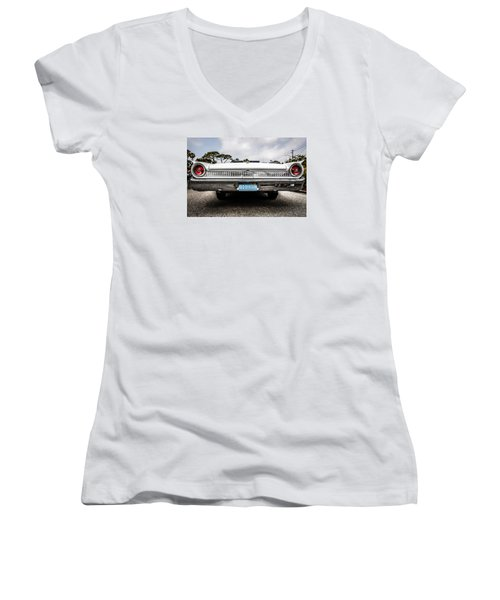 1961 Ford Galaxie 500 Women's V-Neck T-Shirt