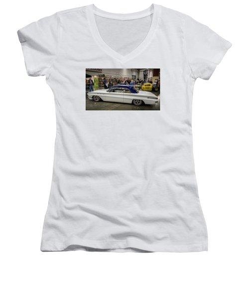 1962 Buick Skylark Women's V-Neck T-Shirt (Junior Cut) by Randy Scherkenbach