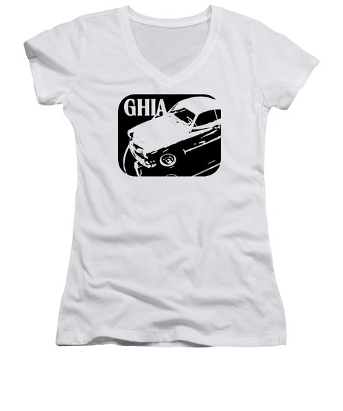 1962 Karmann Ghia Pop Art Tee Women's V-Neck (Athletic Fit)
