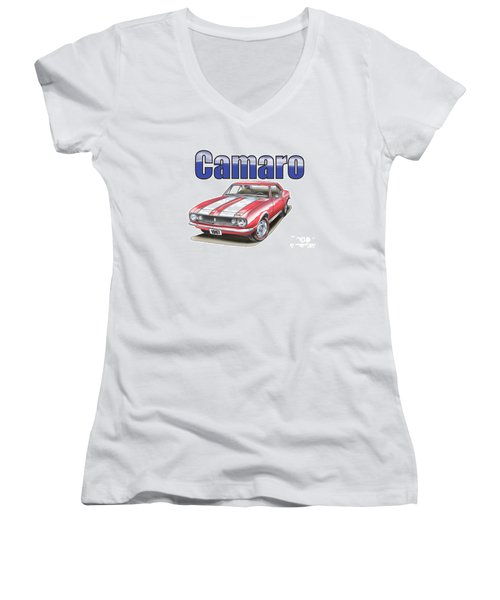 1967 Camaro Women's V-Neck