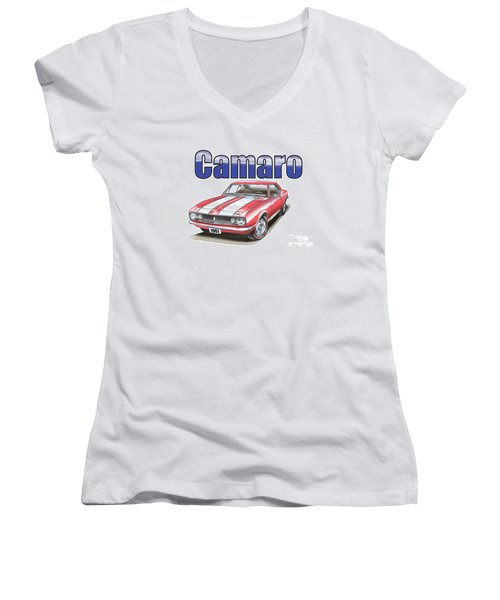 1967 Camaro Women's V-Neck