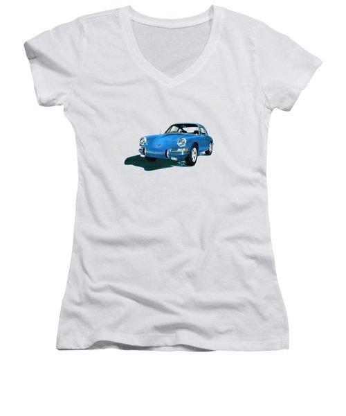 Porsche 911 1968 Women's V-Neck T-Shirt