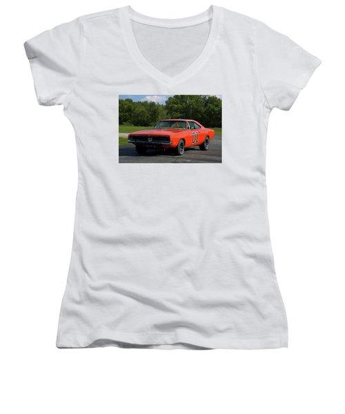 1969 Dodge Charger Rt Women's V-Neck
