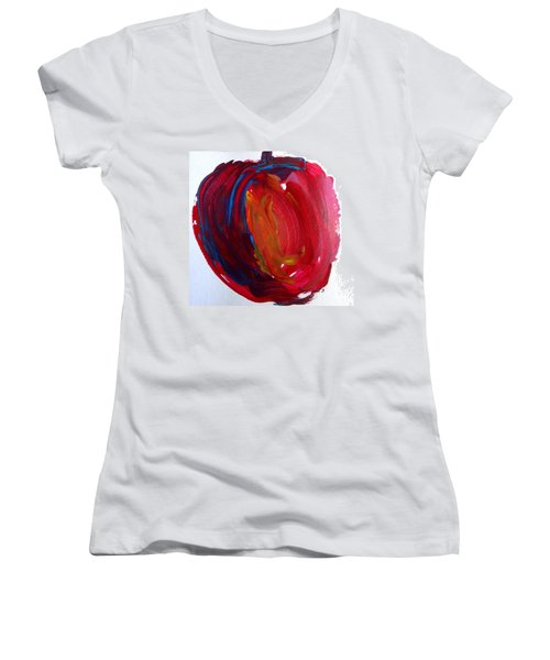 Apple Women's V-Neck T-Shirt