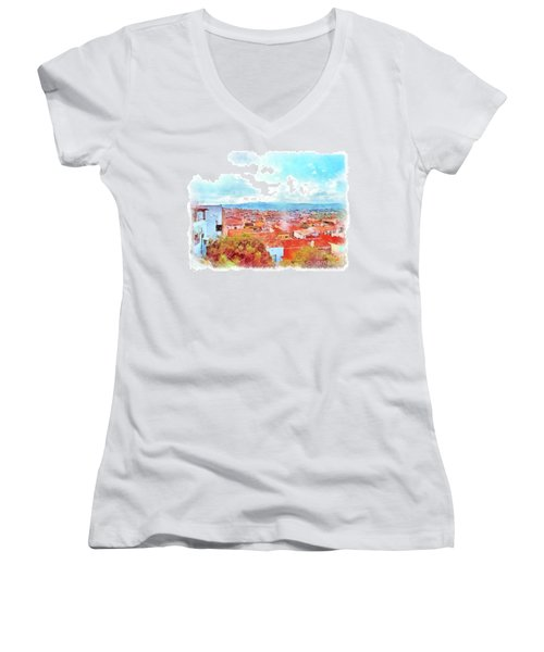 Arzachena View Women's V-Neck T-Shirt