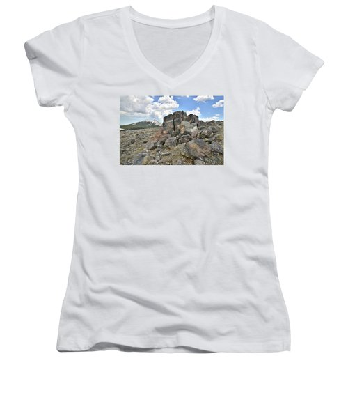 Big Horn Pass In Wyoming Women's V-Neck