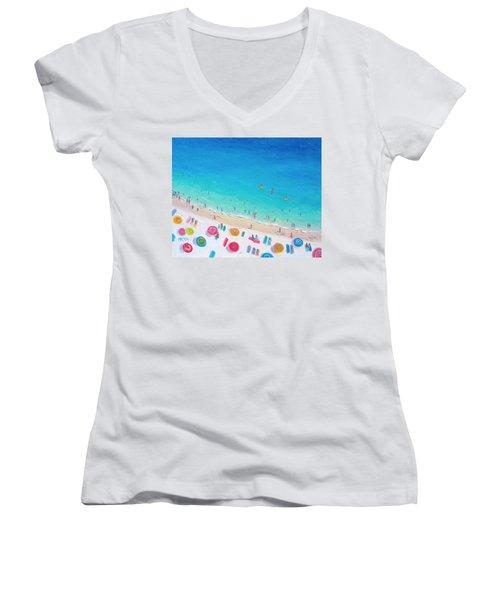 Colors Of The Beach Women's V-Neck T-Shirt (Junior Cut) by Jan Matson