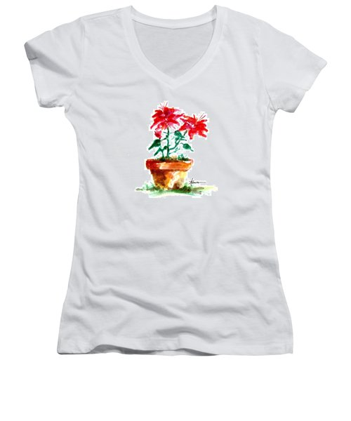 Cracked Pot  Women's V-Neck (Athletic Fit)