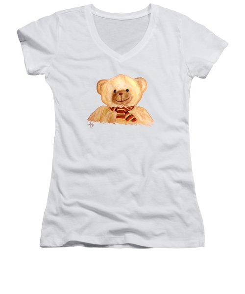 Cuddly Bear Women's V-Neck T-Shirt