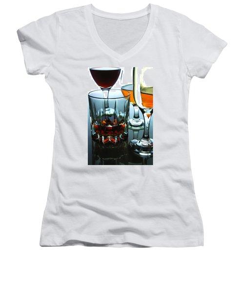 Drinks Women's V-Neck T-Shirt (Junior Cut) by Jun Pinzon