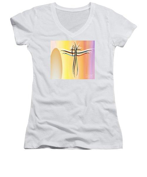 Freedom Women's V-Neck T-Shirt (Junior Cut) by Belinda Threeths