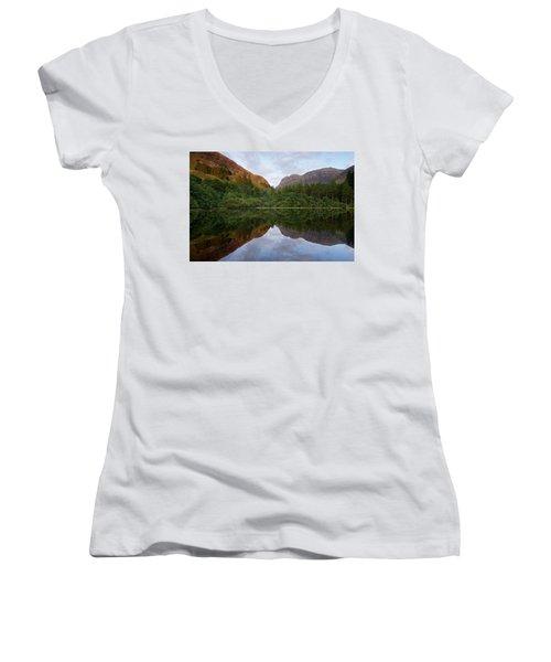 Golden Light In Glencoe Women's V-Neck T-Shirt