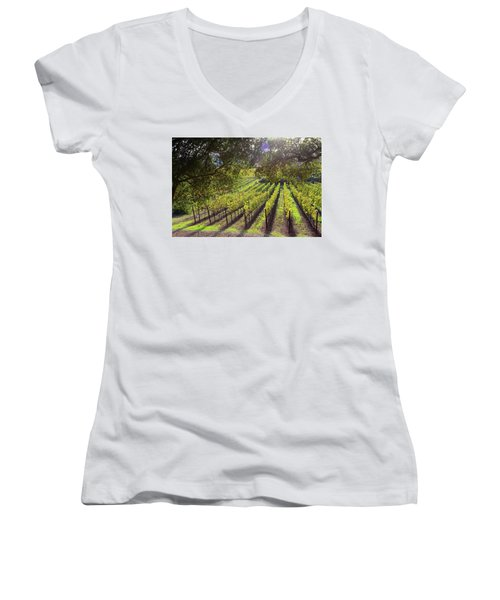 Grapevines In The Fall Women's V-Neck