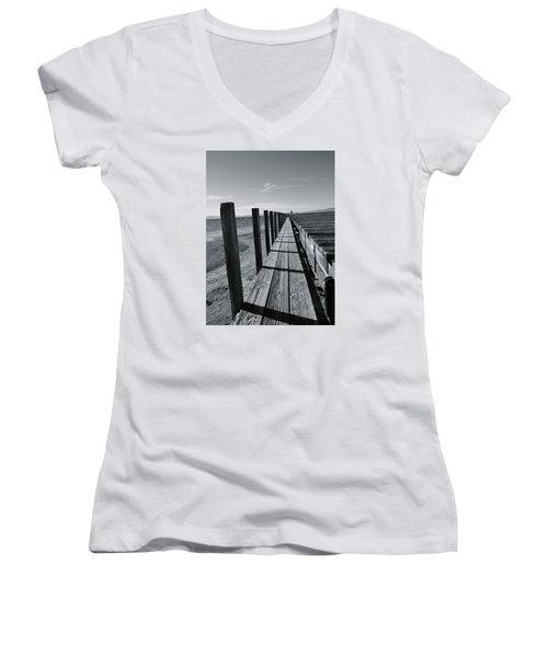 Lake Tahoe Women's V-Neck T-Shirt (Junior Cut) by Alex King