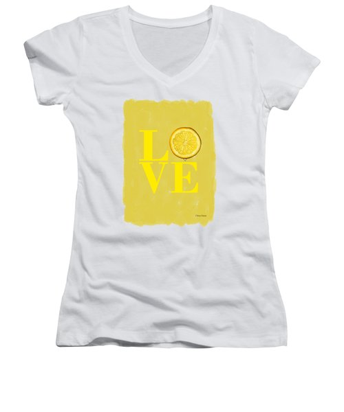 Lemon Women's V-Neck (Athletic Fit)