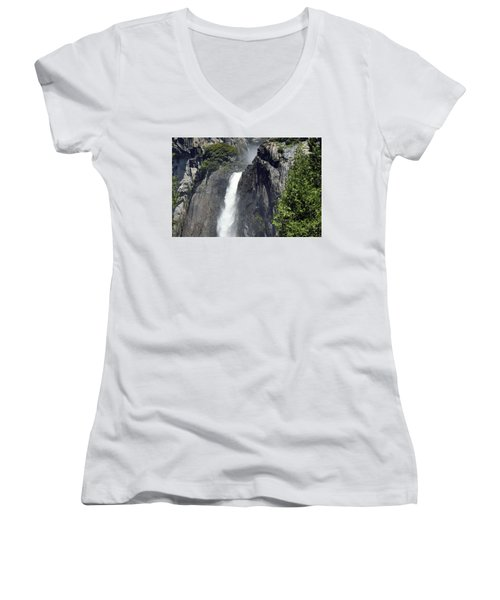 Lower Yosemite Falls Women's V-Neck (Athletic Fit)