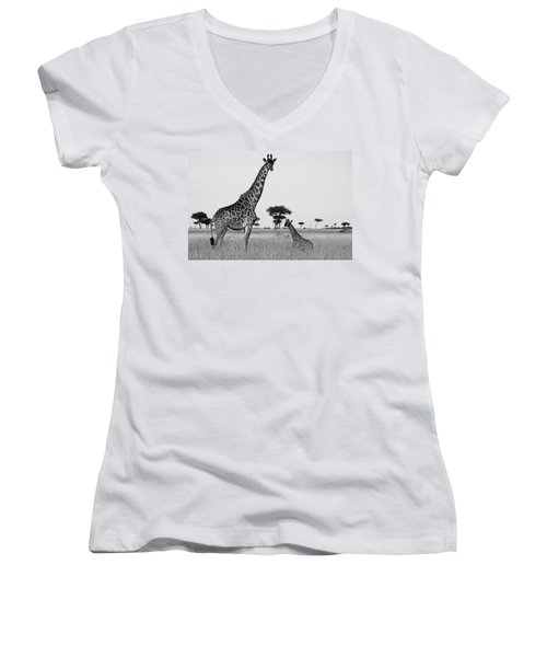 Meet My Little One Women's V-Neck (Athletic Fit)