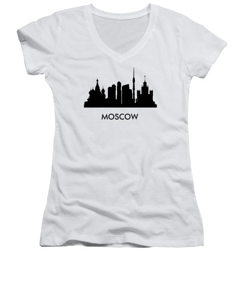 Moscow Women's V-Neck T-Shirt