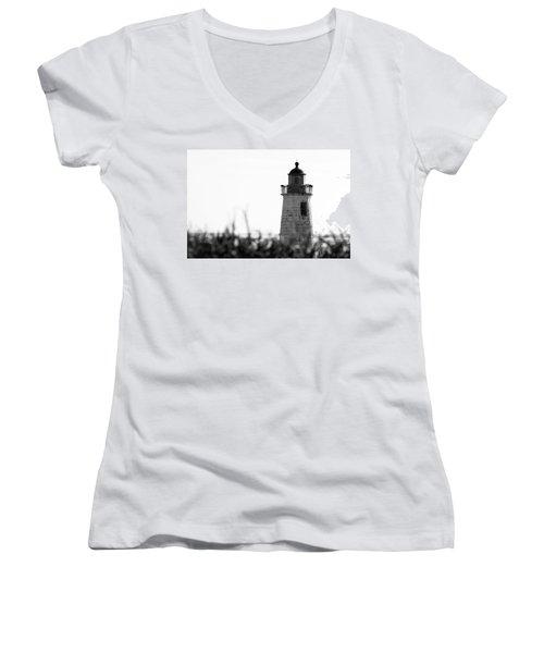Old Point Comfort Lighthouse Women's V-Neck