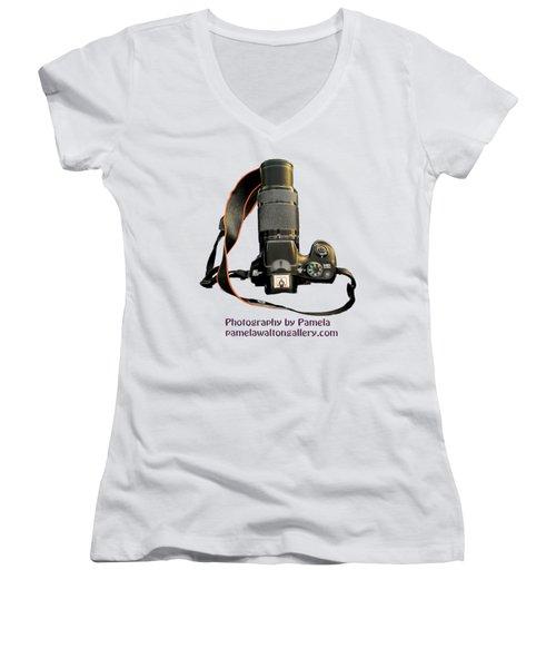 Photography By Pamela Women's V-Neck T-Shirt (Junior Cut) by Pamela Walton