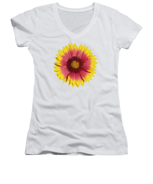 Spring Flower Women's V-Neck (Athletic Fit)