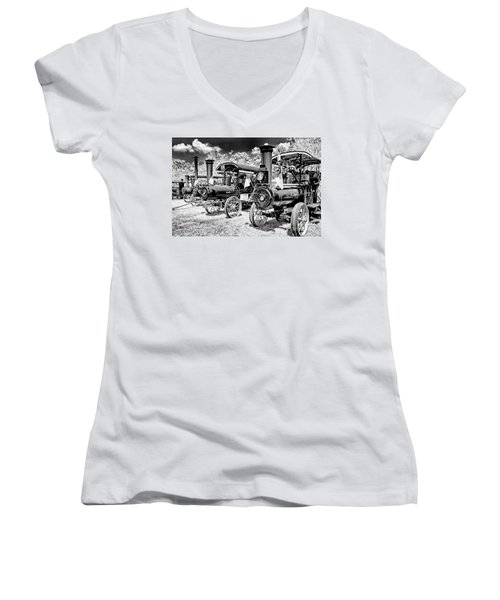 Women's V-Neck T-Shirt (Junior Cut) featuring the photograph The Old Way Of Farming by Paul W Faust - Impressions of Light