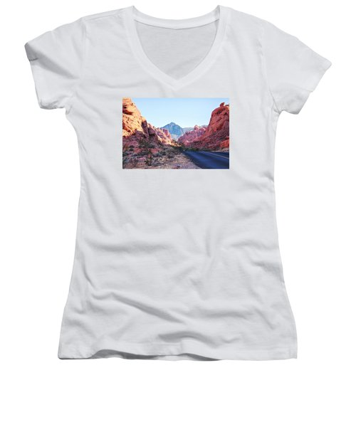 Valley Of Fire State Park, Nevada Women's V-Neck