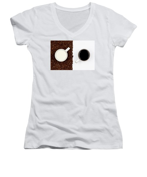 Women's V-Neck T-Shirt (Junior Cut) featuring the photograph Yin And Yang by Gert Lavsen