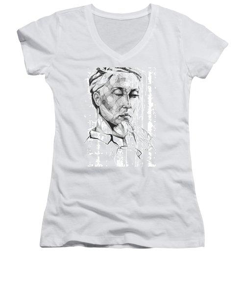 20140109 Women's V-Neck T-Shirt