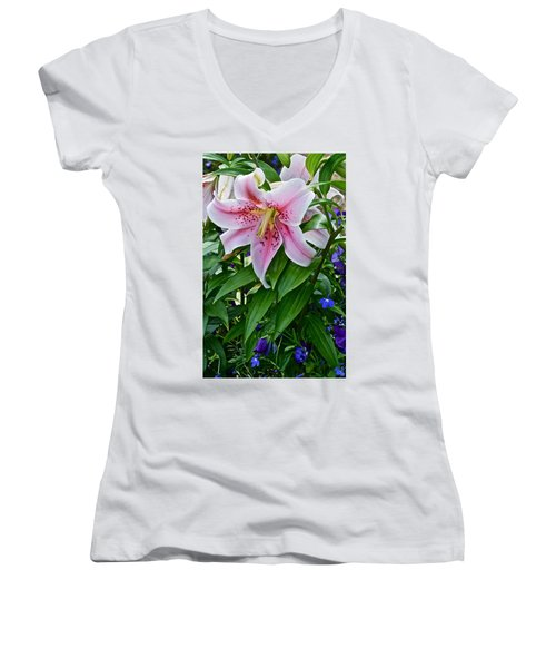 2015 Summer At The Garden Event Garden Lily 3 Women's V-Neck