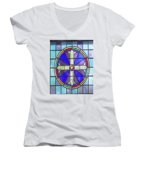 Saint Anne's Windows Women's V-Neck