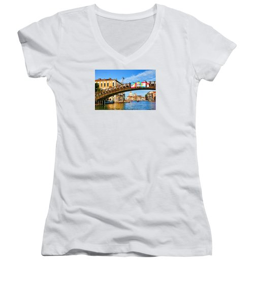 Venice - Untitled Women's V-Neck T-Shirt (Junior Cut) by Brian Davis