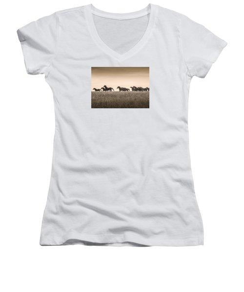 #2564 - Mortana Morgans Women's V-Neck T-Shirt