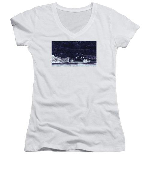 Bentley Continental Gt Women's V-Neck T-Shirt