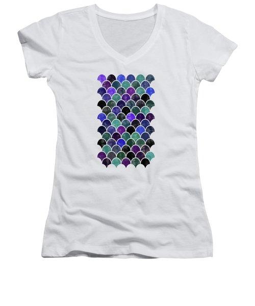 Lovely Pattern Women's V-Neck T-Shirt (Junior Cut) by Amir Faysal